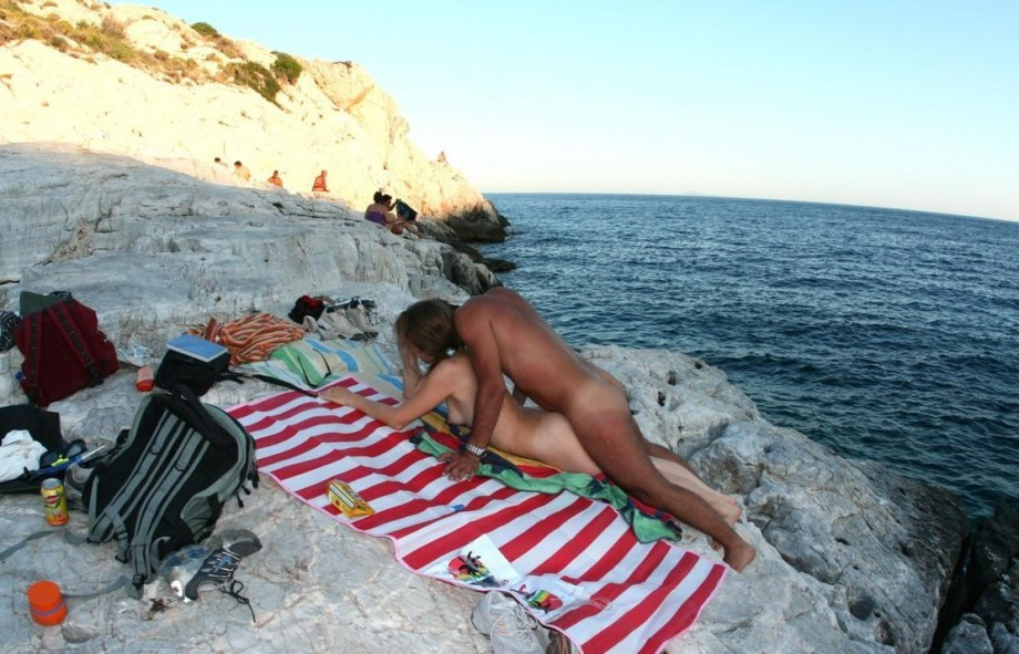 Beaches and naturist beaches of Santorini or Thira