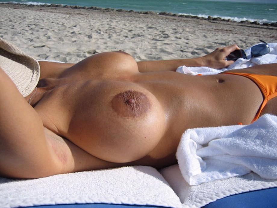 Tanned Nude Handbra Tits Boobs 1