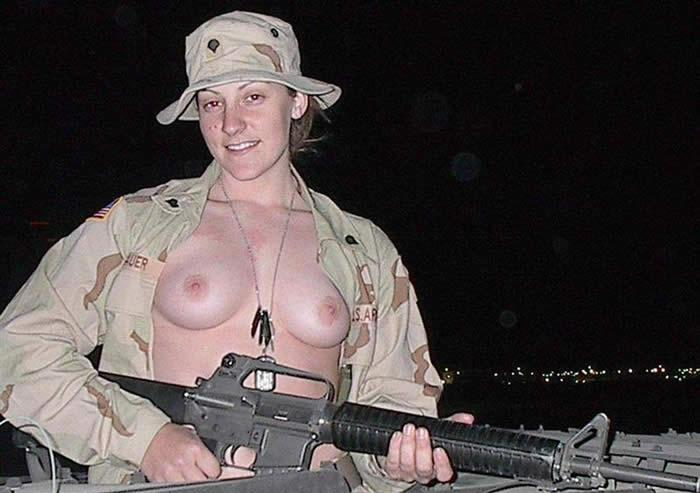 sexy army girl strips in iraq: