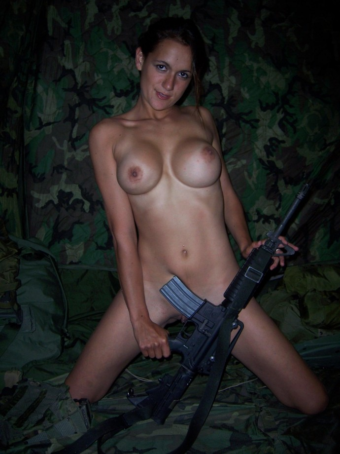 Consider, that Nudes military babes image