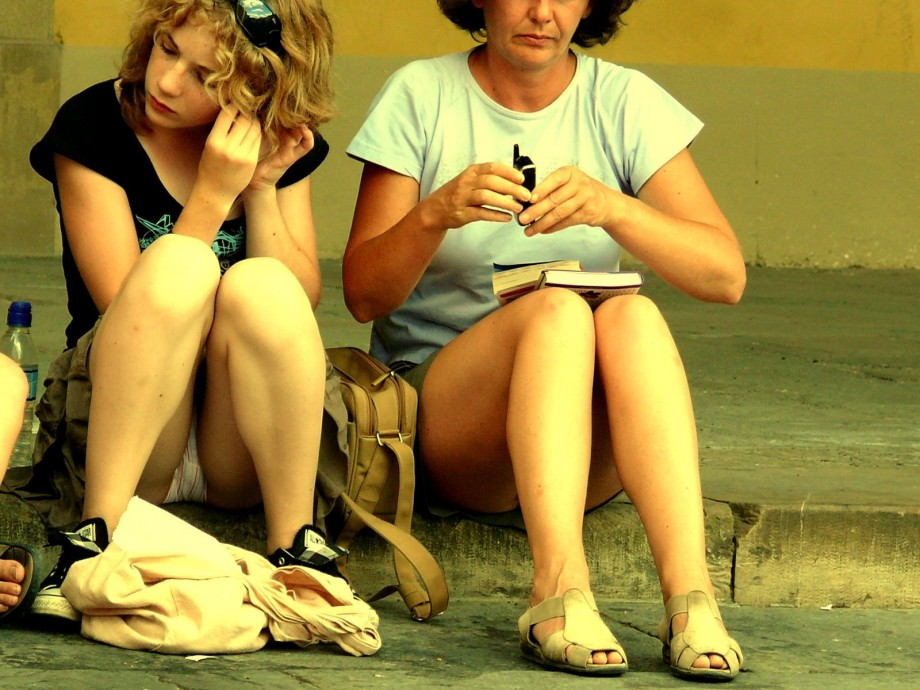 Gallery: Voyeur upskirt in florence-mother and daughter | Picture ...