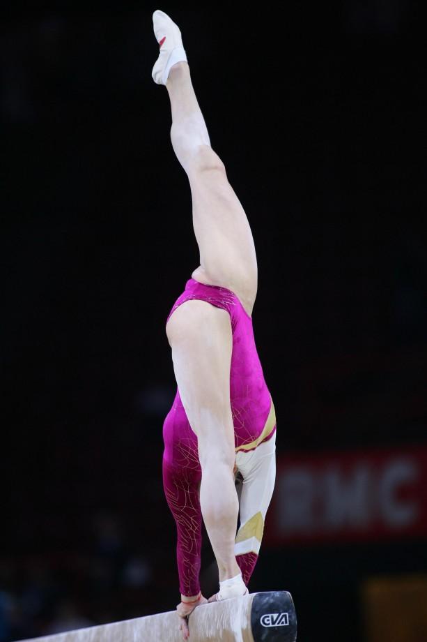 Voyeur gymnastic dressing