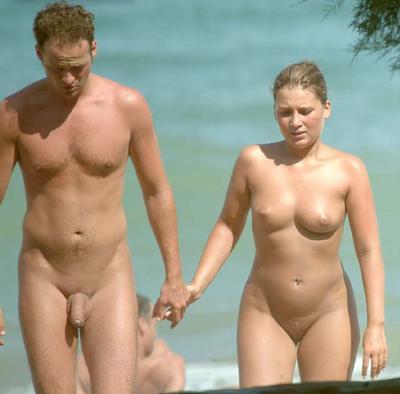 couple Perfect beach nude