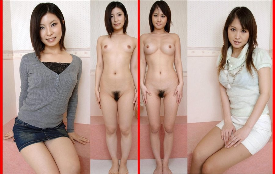 Dressed undressed asian