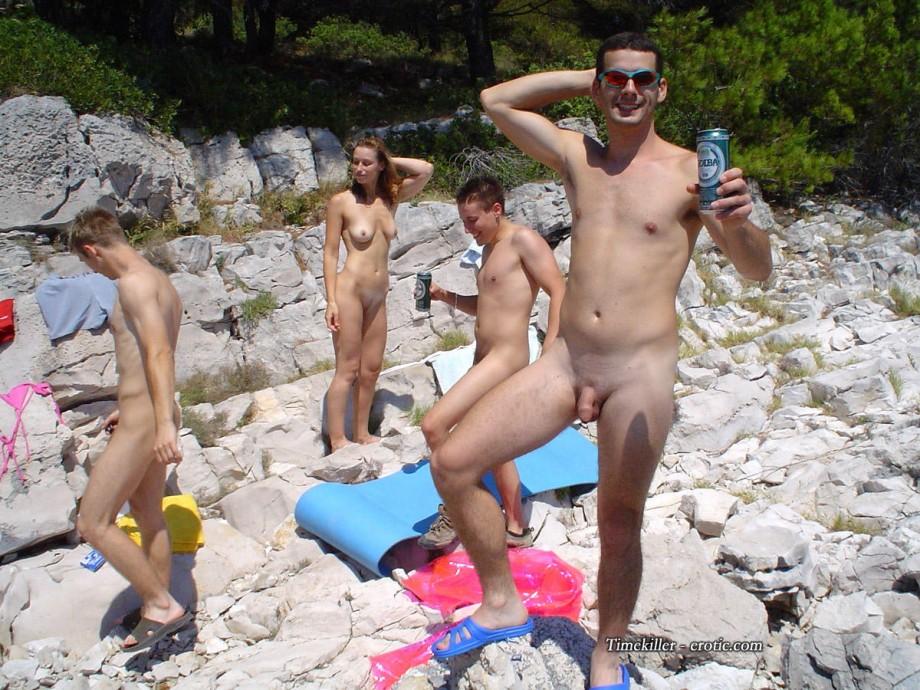 Huge tits in tight bikini
