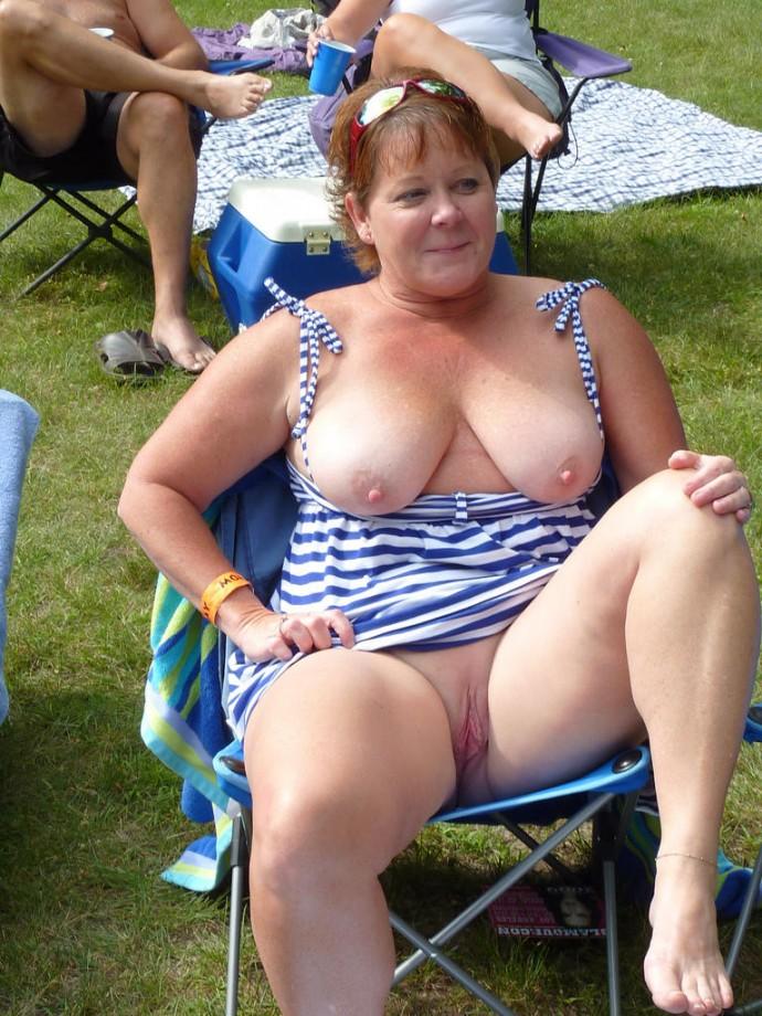 image Busty femdom milfs flashing tits for dude