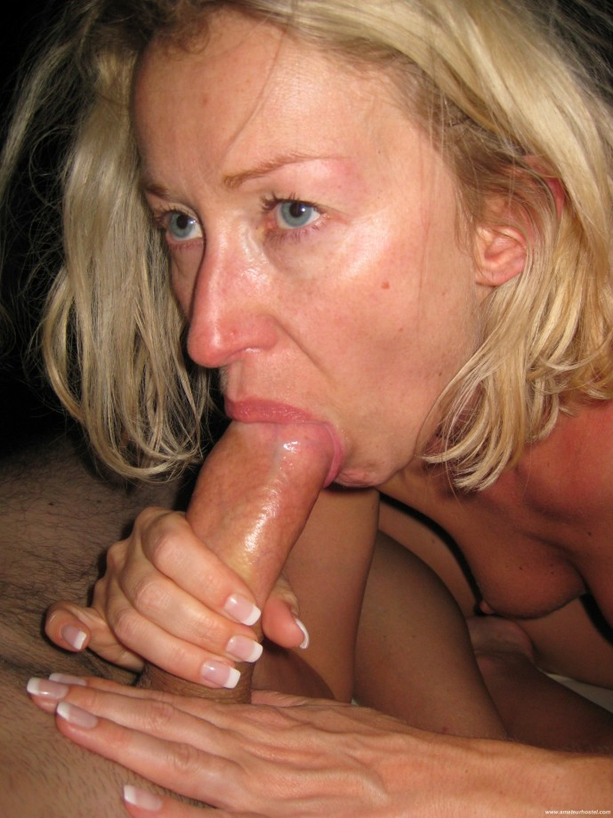 Brunette girl in love blowjob
