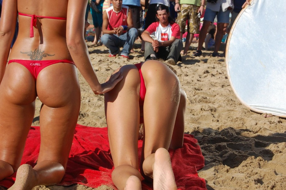 Самые Лучшие Секс На Пляже В Стрингах