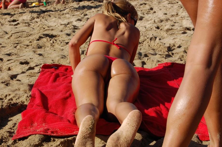 Стрингах в самые пляже секс на лучшие