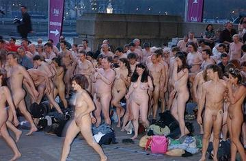 Couples naked in public consider