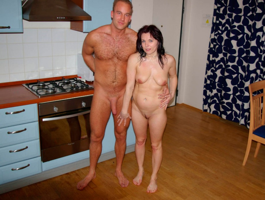 couples naked at home