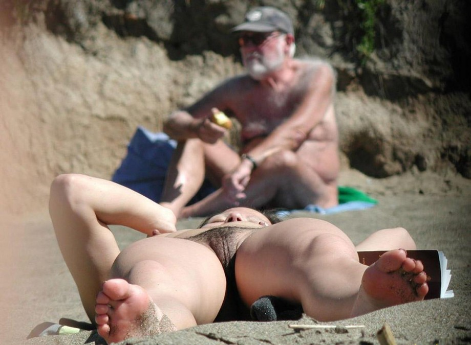 Nudist With Legs Open