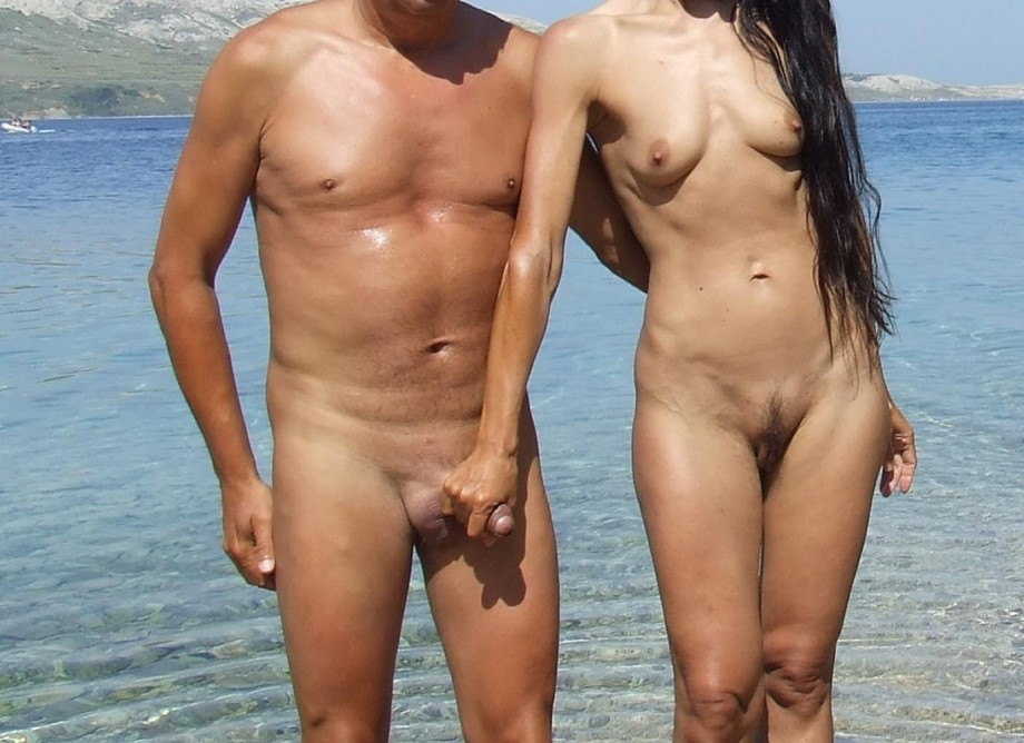 Family beach nude accidental erection