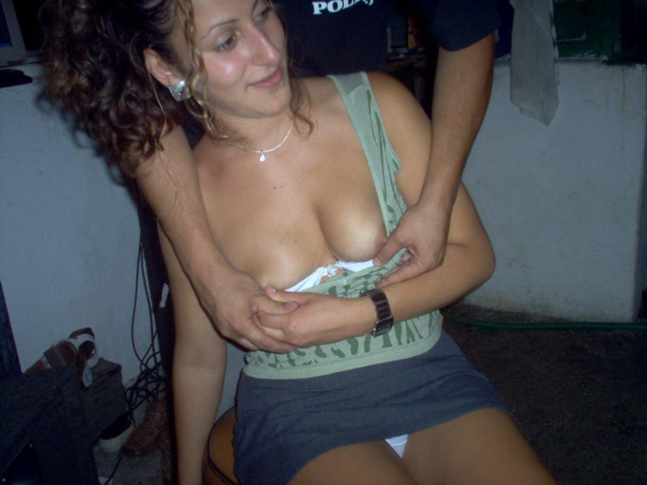 Girls showing tits drunk