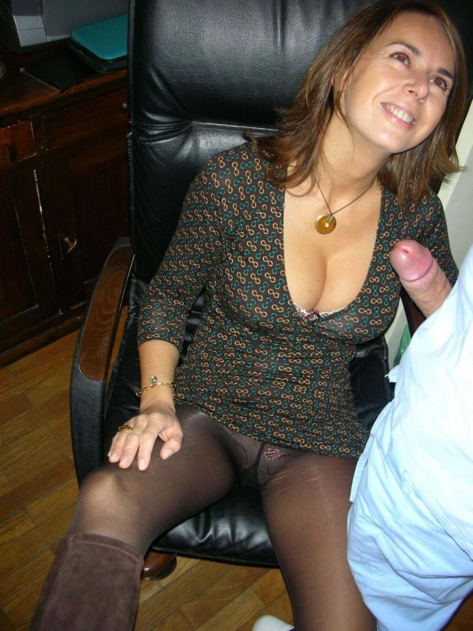 Grabbing and sucking nice tits