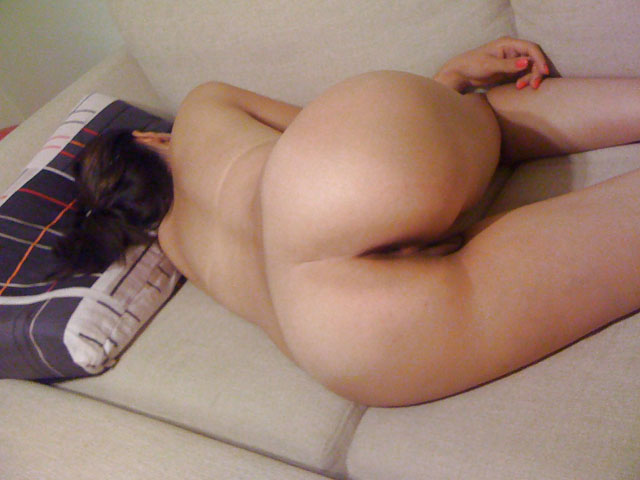 Naked sleeping girlfriend on bed