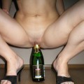 Amateurs girl inserts bottle to pussy and ass no.01