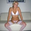 Amateur blonde posing