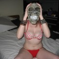Amateur girlfriend in mask
