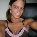 Girl posing in bedroom