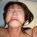 Shaved pussy of young asian girl