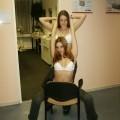 Lesbian girls in sauna