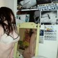 Brunette girl masturbate with dildo