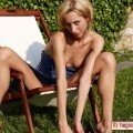 Yanna sunbathing