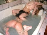 Sweet amateur girls in bath