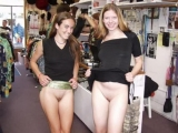 Girls naked in public places