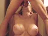 Thumb for Blonde with big boobs sucks a big cock