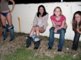 Young Amateur girls peeing and pissing in Public No.03