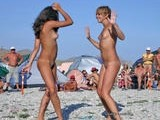 Amateur nudist girls on the beach
