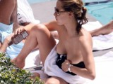 Melissa Theuriau Topless Candids