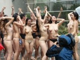 College initiations with water games